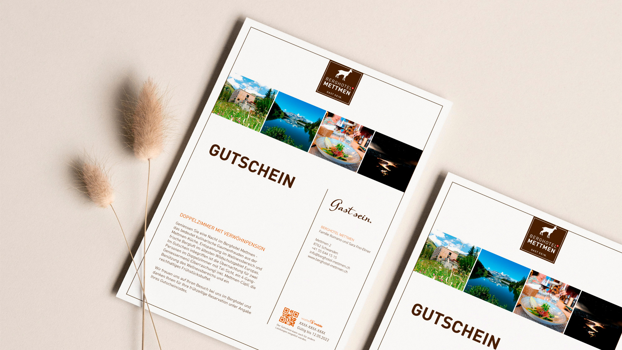 e-guma Gutscheinsystem Gutscheinlayout print@home Berghotel Mettmen