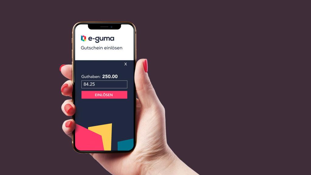 e-guma Gutscheinsystem Voucher App