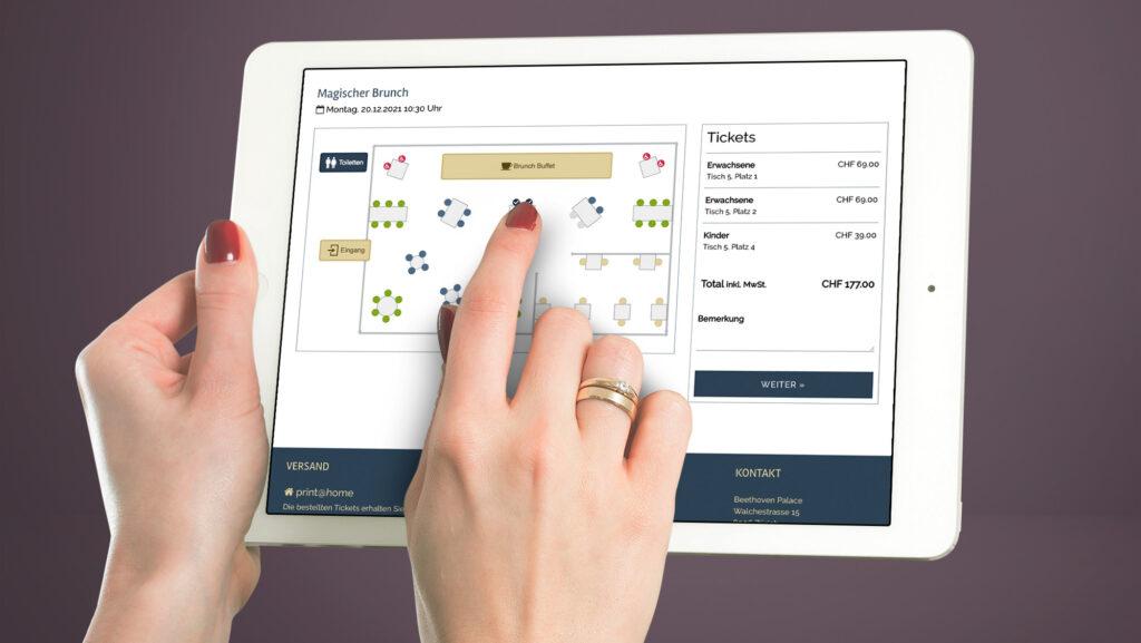 e-guma Ticketsystem Saalplan